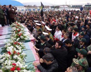 استقبال از پیکرهای پاک ۱۱ شهید کمنام  گزارش تصویری از شهرک خاوران تبریز