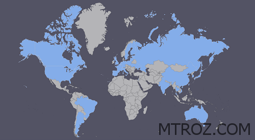 نقشه جهان سایا تجارت تبریز