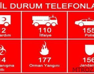 شماره تلفنهای اضطراری استانبول