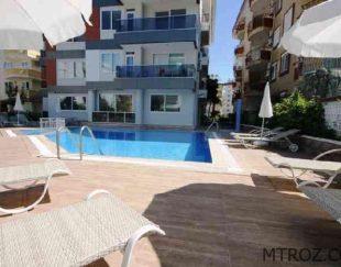 آپارتمان ساحلی یک خوابه مبله در۳۵۰ متری پلاژ اوبا, ترکیه