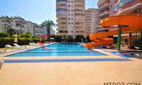 آپارتمان دو خوابه ساحلی مبلمان در آلانیا, محمودلار, ترکیه