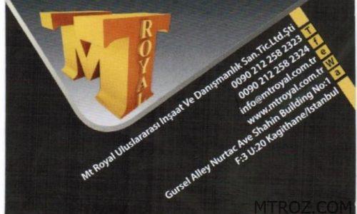صادرات محصولات ايراني با شركت ام تي رويال تركيه