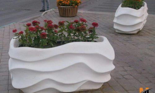 گلدان و فلاورباکس مستطیل شکل و پایه دار