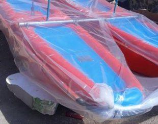 قایق پدالی طرح دوچرخه ای در رنگ های متنوع