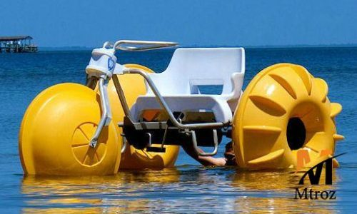 قایق تفریحی سه چرخه پدالی فایبرگلاس