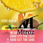 citric acid in food industry شرکت ام تی رویال (2)