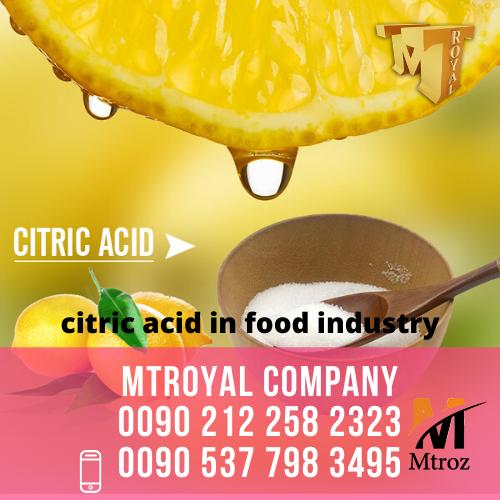 واردات انواع اسید سیتریک و مواد اولیه شیمیایی خوراکی