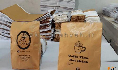 سازنده پاکت های قهوه در سایز های مختلف