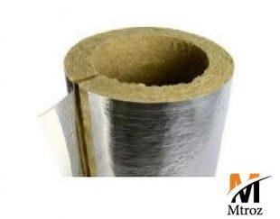 عایق پشم سنگ ایزوپایپ(لوله ای) با فویل و روکش آلومینیوم