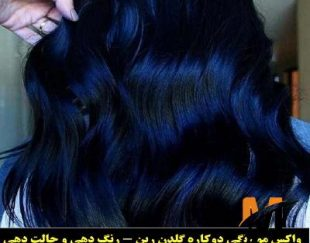 فروش رنگ مو موقت  گلدن رین کد cr356 رنگ سرمه ای