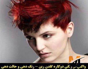 رنگ مو موقت تناژ قرمز گلدن رین مدل Cream شماره Cr22.7