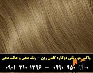 حالت دهنده و رنگ مو موقت گلدن رین رنگ عسلی