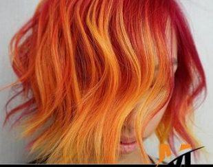 واکس مو رنگ موقت گلدن رین رنگ مسی آتشی مدل normal