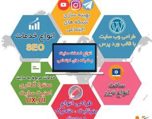 راه اندازی سایت، سئو، شبکه های اجتماعی