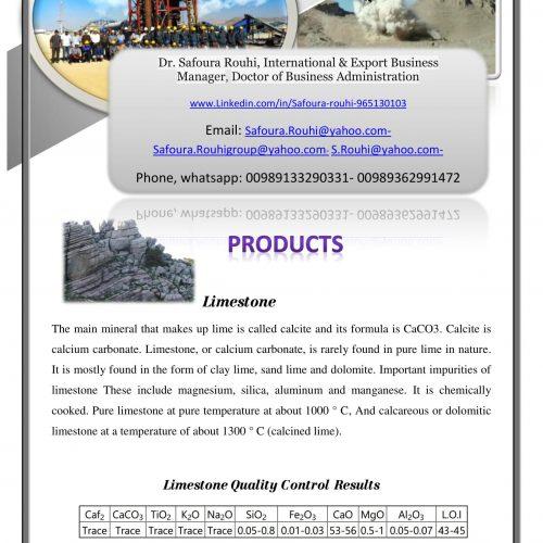تولید، فروش، صادرات کانی های غیر فلزی دولومیت، پودر میکروسیلیکا