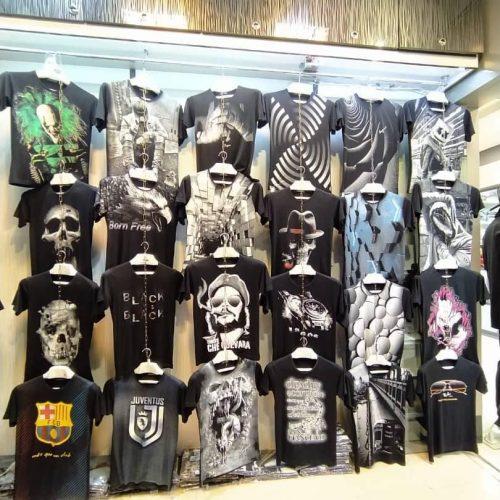 فروش عمده تیشرت زنانه و مردانه